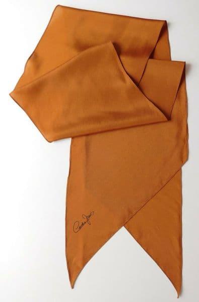 Cornelia James ladies vintage scarf bronze colour womens classic m